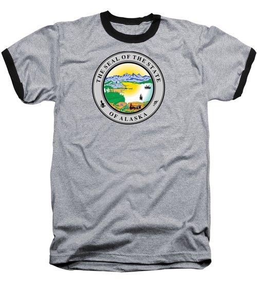 Alaska State Seal Baseball T-Shirt by Movie Poster Prints