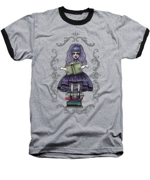 Alice In Another World 2 Baseball T-Shirt by Akiko Okabe