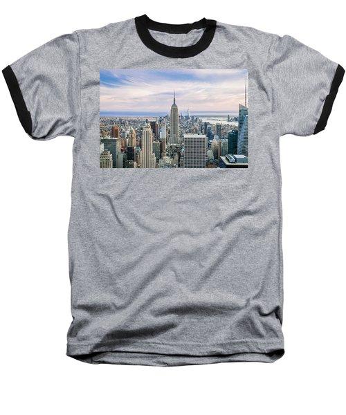 Amazing Manhattan Baseball T-Shirt by Az Jackson