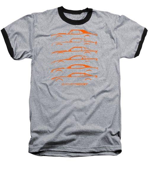 American Pony Silhouettehistory Baseball T-Shirt by Gabor Vida