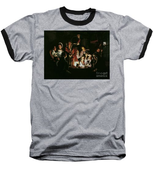 An Experiment On A Bird In The Air Pump Baseball T-Shirt by Joseph Wright of Derby