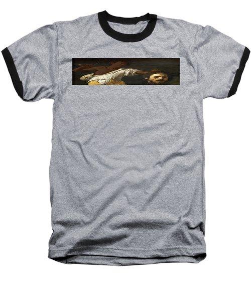 Ancient Human Instinct Baseball T-Shirt by David Bridburg