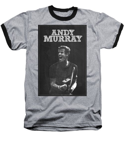 Andy Murray Baseball T-Shirt by Semih Yurdabak