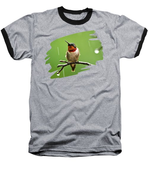 Another Rainy Day Hummingbird Baseball T-Shirt by Christina Rollo