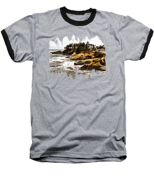 Arch Rock Depoe Bay Baseball T-Shirt by Thom Zehrfeld