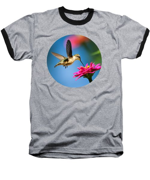 Art Of Hummingbird Flight Baseball T-Shirt by Christina Rollo
