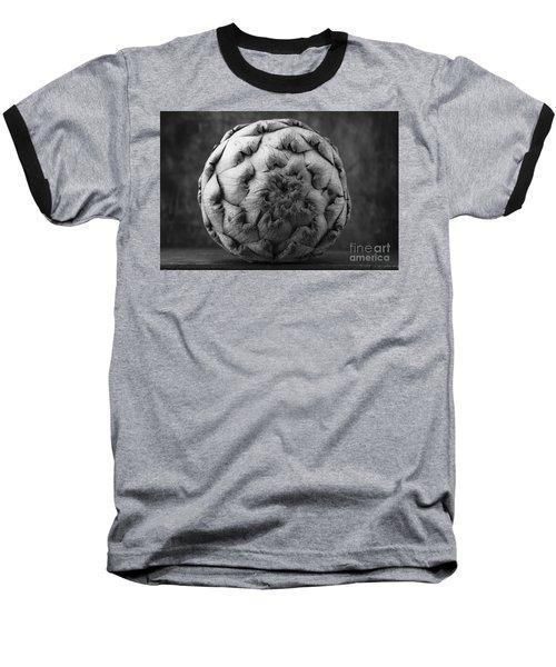 Artichoke Black And White Still Life Two Baseball T-Shirt by Edward Fielding