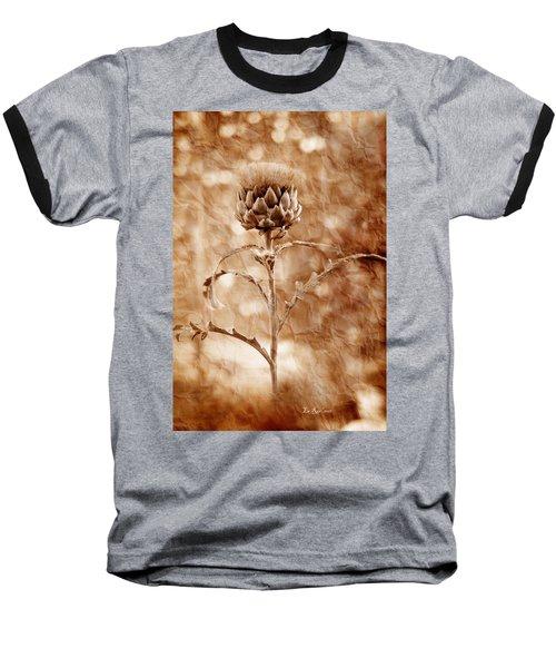 Artichoke Bloom Baseball T-Shirt by La Rae  Roberts