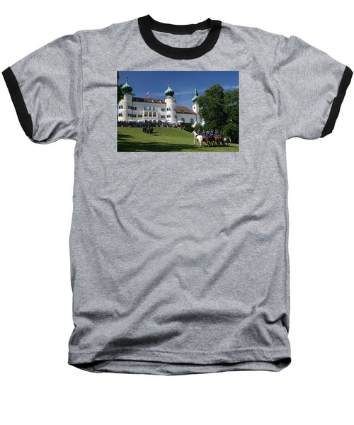 Baseball T-Shirt featuring the photograph Artstetten Castle In June by Travel Pics