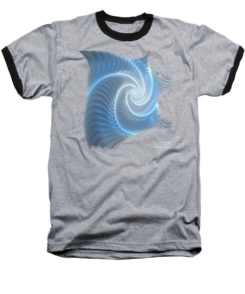 Glowing Spiral Baseball T-Shirt by Anastasiya Malakhova