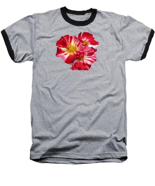 July 4th Rose Baseball T-Shirt by M E Cieplinski