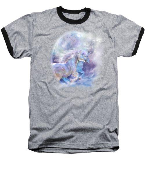 Unicorn Soulmates Baseball T-Shirt by Carol Cavalaris