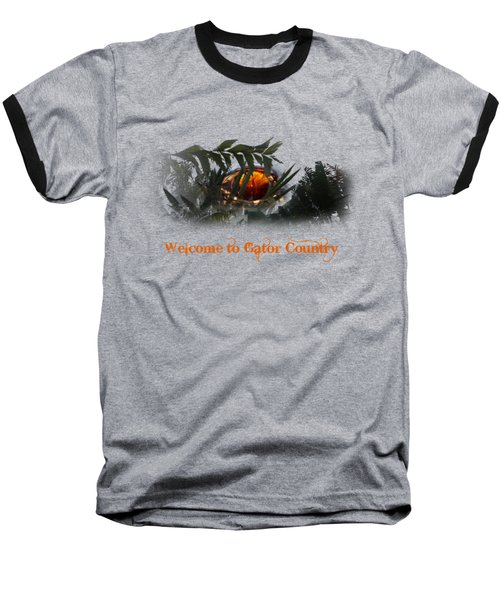 Welcome To Gator Country Baseball T-Shirt by Mark Andrew Thomas