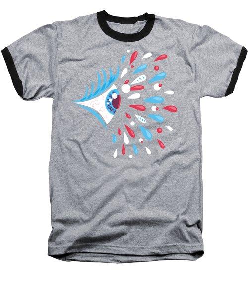 Psychedelic Eye Baseball T-Shirt by Boriana Giormova
