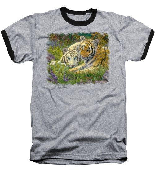 Sisters Baseball T-Shirt by Lucie Bilodeau