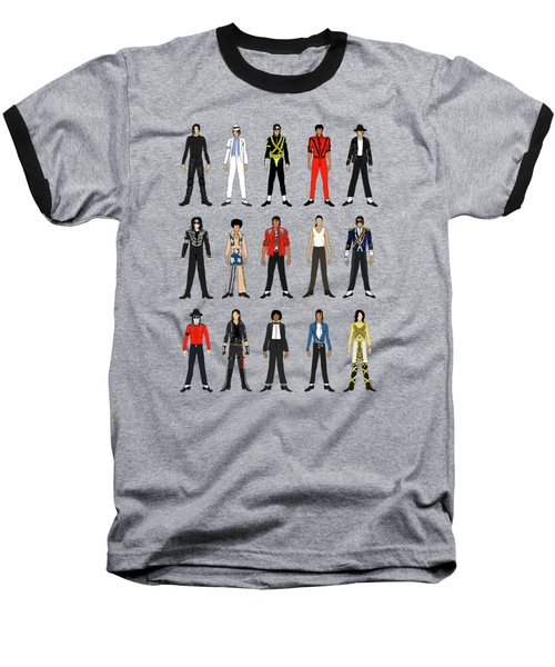 Outfits Of Michael Jackson Baseball T-Shirt by Notsniw Art