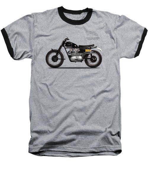 The Steve Mcqueen Desert Racer Baseball T-Shirt by Mark Rogan