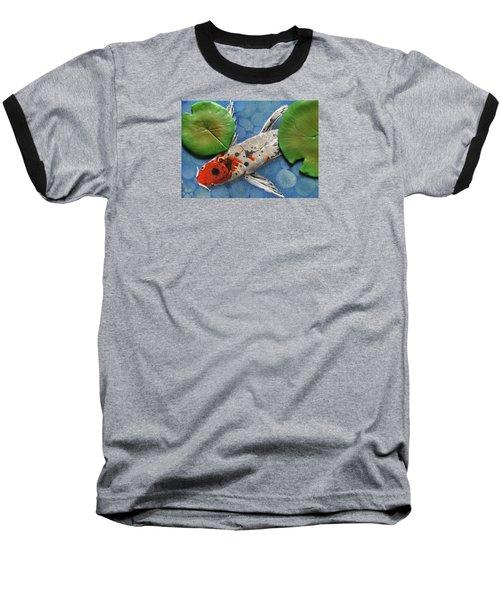 Hidden Koi Baseball T-Shirt by Rhi Johnson