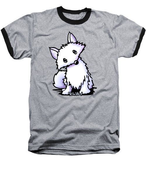Arctic Fox Baseball T-Shirt by Kim Niles