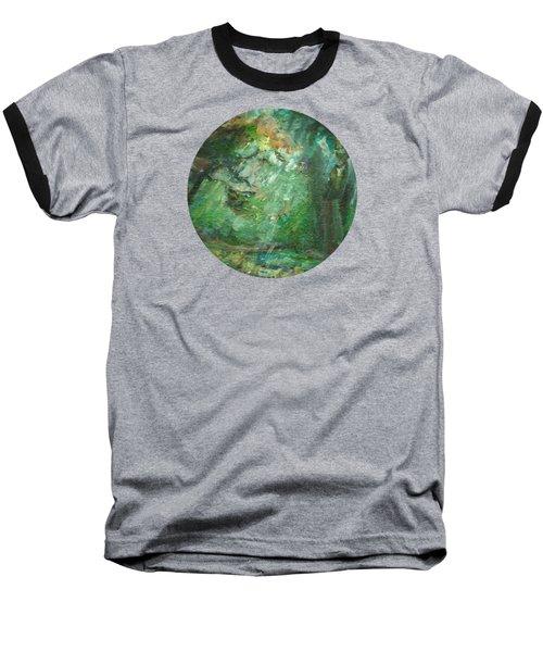 Rainy Woods Baseball T-Shirt by Mary Wolf