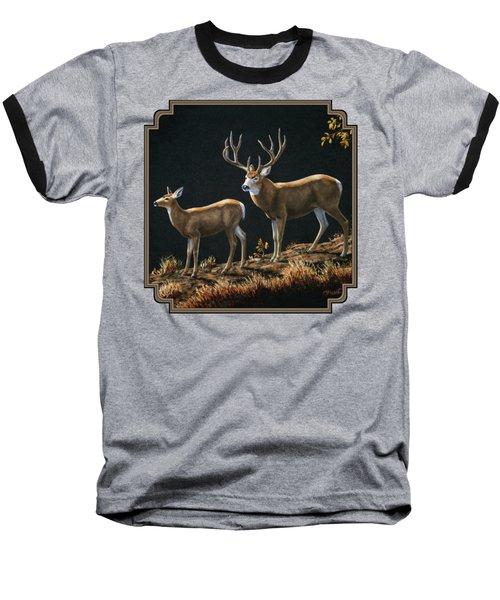 Mule Deer Ridge Baseball T-Shirt by Crista Forest