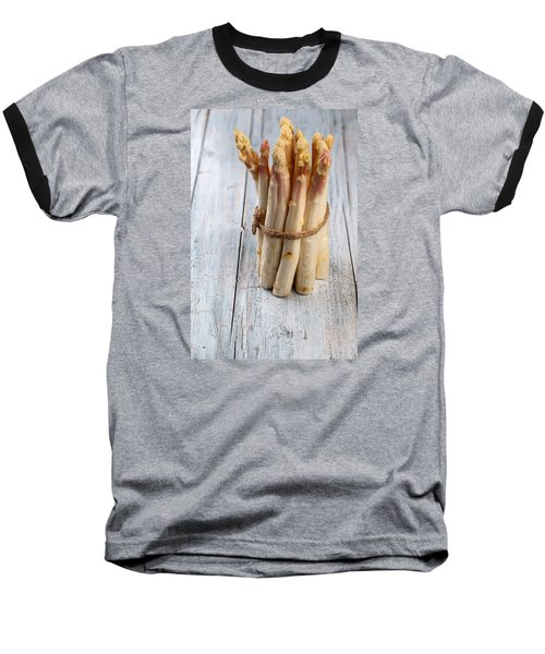 Asparagus Baseball T-Shirt by Nailia Schwarz