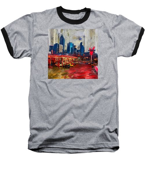 Atlanta Skyline 231 1 Baseball T-Shirt by Mawra Tahreem