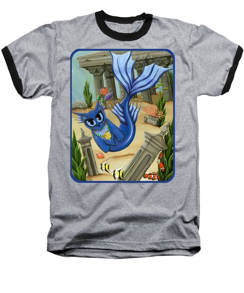 Atlantean Mercat Baseball T-Shirt by Carrie Hawks