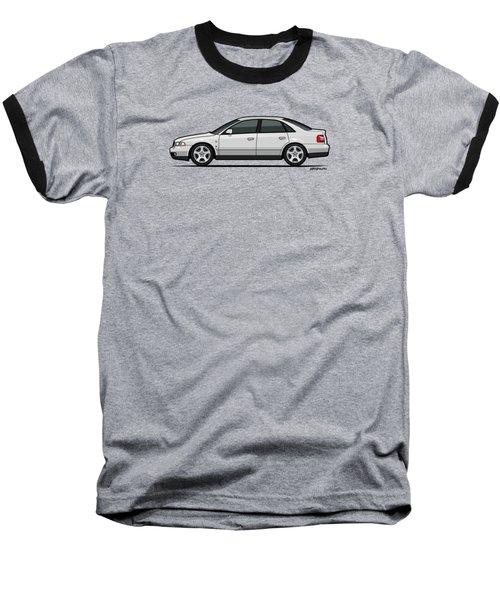 Audi A4 Quattro B5 Type 8d Sedan White Baseball T-Shirt by Monkey Crisis On Mars