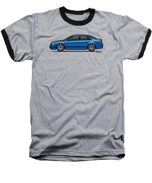 Audi A4 S4 Quattro B5 Type 8d Sedan Nogaro Blue Baseball T-Shirt by Monkey Crisis On Mars
