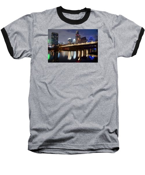 Austin From Below Baseball T-Shirt by Frozen in Time Fine Art Photography