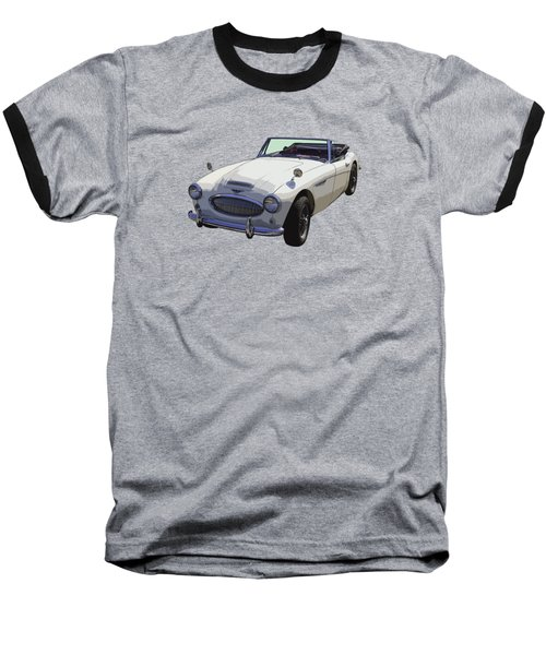 Austin Healey 300 Classic Convertible Sportscar  Baseball T-Shirt by Keith Webber Jr