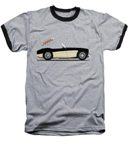 Austin Healey 3000 Baseball T-Shirt by Mark Rogan