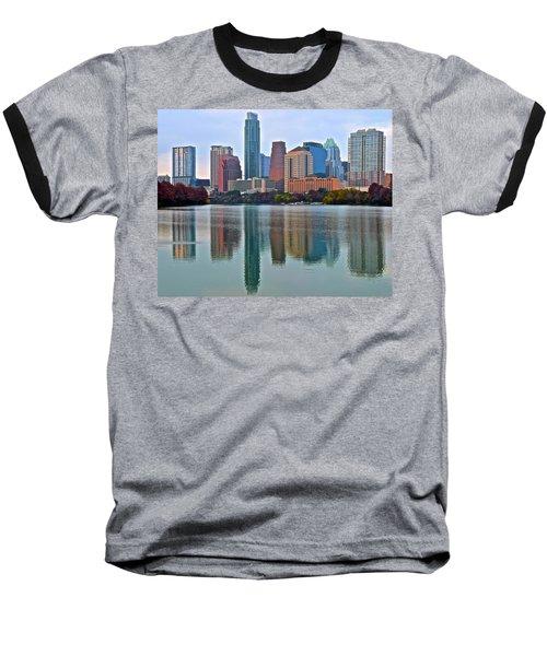 Austin Shimmer  Baseball T-Shirt by Frozen in Time Fine Art Photography