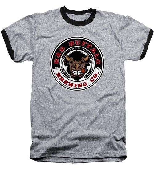 Bad Buffalo Brewing Baseball T-Shirt by Christopher Williams