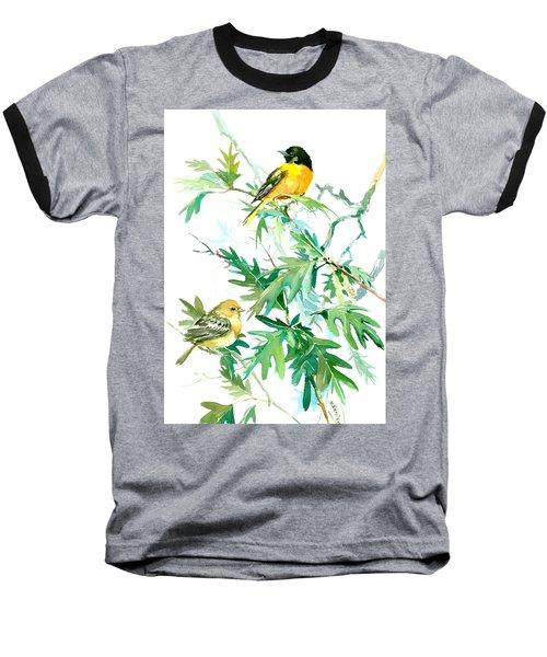 Baltimore Orioles And Oak Tree Baseball T-Shirt by Suren Nersisyan