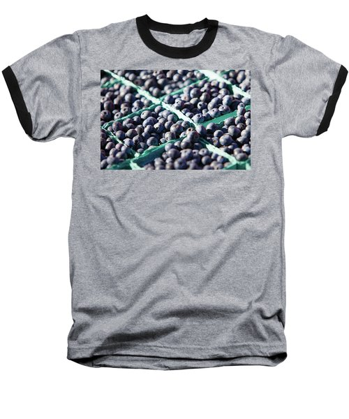Baskets Of Blueberries Baseball T-Shirt by Todd Klassy
