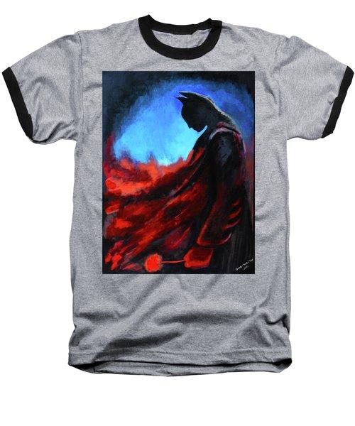 Batman's Mercy Baseball T-Shirt by Brandy Nicole Neal