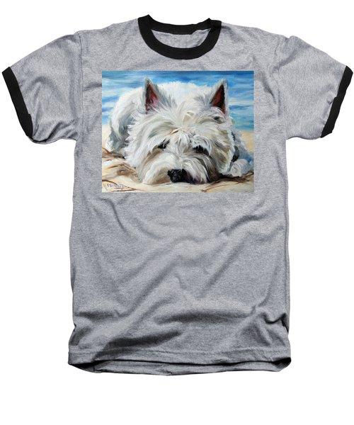 Beach Bum Baseball T-Shirt by Mary Sparrow