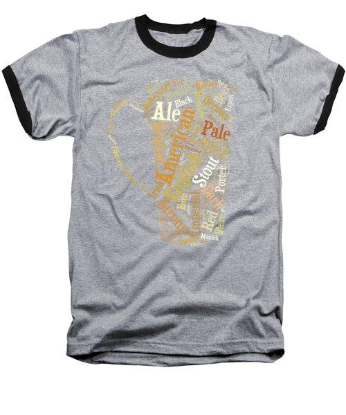 Beer Lovers Tee Baseball T-Shirt by Edward Fielding