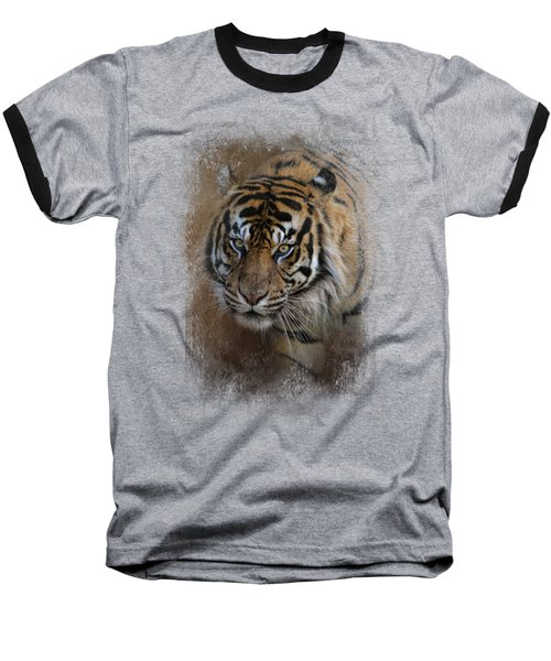 Bengal Stare Baseball T-Shirt by Jai Johnson