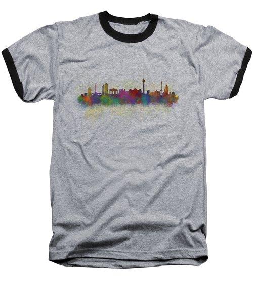 Berlin City Skyline Hq 5 Baseball T-Shirt by HQ Photo