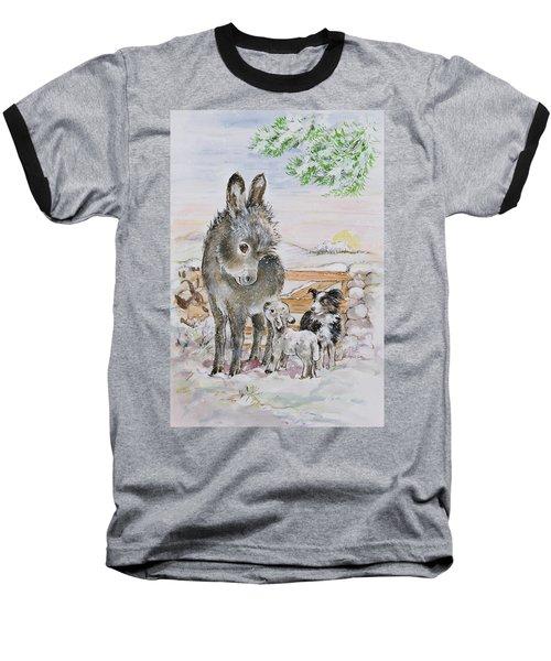 Best Friends Baseball T-Shirt by Diane Matthes
