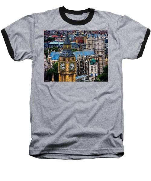 Big Ben And Westminster Abbey Baseball T-Shirt by Chris Lord