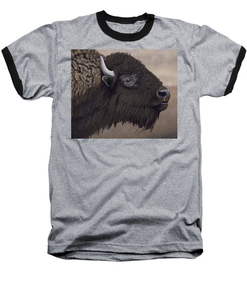 Bison Baseball T-Shirt by Jacqueline Barden