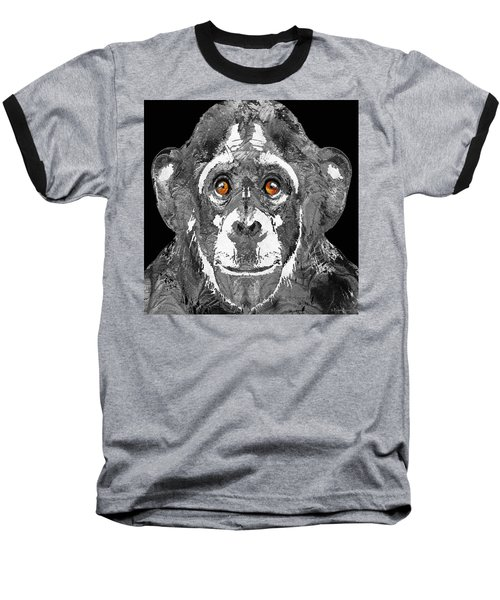Black And White Art - Monkey Business 2 - By Sharon Cummings Baseball T-Shirt by Sharon Cummings