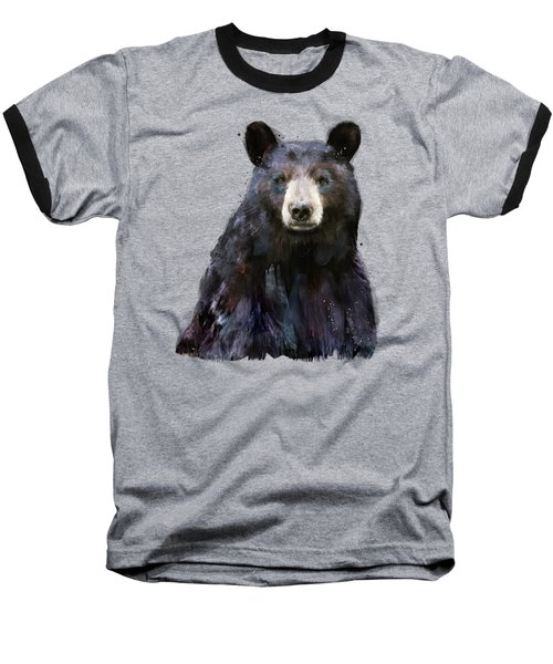 Black Bear Baseball T-Shirt by Amy Hamilton