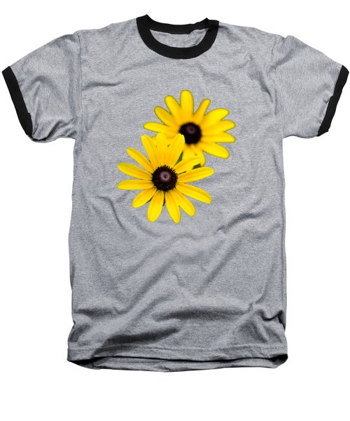 Black Eyed Susans Baseball T-Shirt by Christina Rollo