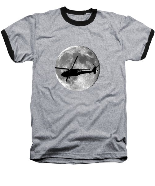 Black Hawk Moon .png Baseball T-Shirt by Al Powell Photography USA