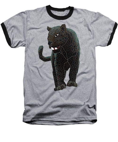 Black Panther Baseball T-Shirt by Dusty Conley